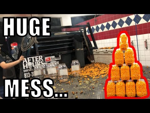 Filling my Engine With CHEESE BALLS..... BAD IDEA