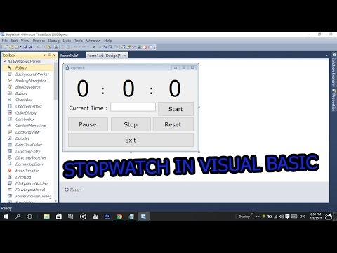 How To Make a StopWatch In Visual Basic (2008,2010,2015,2017) With Codes
