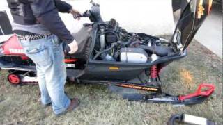7. mountain max 700 stock exhaust vs mbrp race can part 1