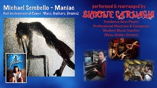 SIMONE CARNAGHI Performing Michael Sembello - Maniac (Instrumental cover)