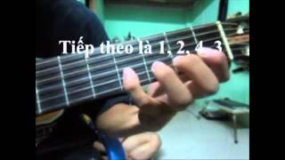 Kỹ thuật ép dây và chạy ngón trong guitar.