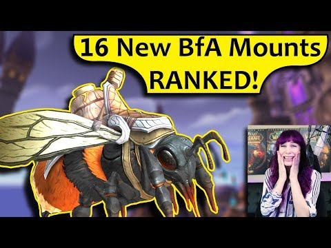 16 BfA Mounts - RANKED! Datamined Battle for Azeroth Alpha Mount Preview (видео)