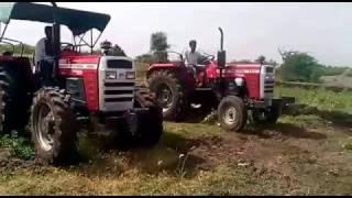 Massey Ferguson 9500 4*4 4wd Vs Massey Ferguson 9500 58 hp Tractor Open Challenge With 2 MB Plough