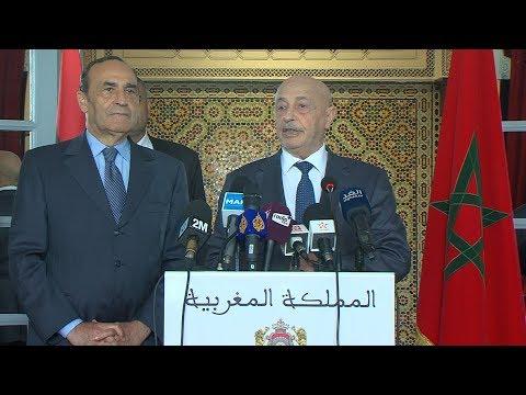 مستجدات الأزمة الليبية وسبل تعديل اتفاق الصخيرات في صلب مباحثات رئيس مجلس النواب ونظيره الليبي