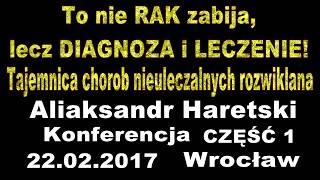 To nie RAK zabija, lecz diagnoza i leczenie! Część 1. Konferencja we Wrocławiu.
