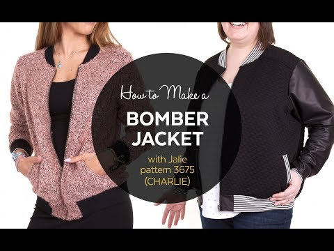 Video DIY  // How to Make a Bomber Jacket // Sewing Tutorial download in MP3, 3GP, MP4, WEBM, AVI, FLV January 2017