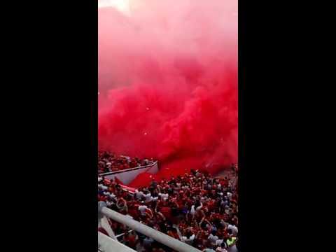 Recibimiento a independiente - La Barra del Rojo - Independiente