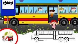Раскрашки-анимашки. Автобус