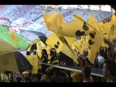 Recibimiento de la hinchada de Peñarol en La Plata vs Estudiantes - Barra Amsterdam - Peñarol