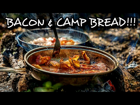 CAMP COOKING, bacon and cheese gorditas, MEXICAN FRY BREAD, JOHNNYCAKES