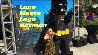Lane met her hero, Lego Batman, at Legoland Florida! She also met the Lego Friends at their show in the Heartlake City section of the park.