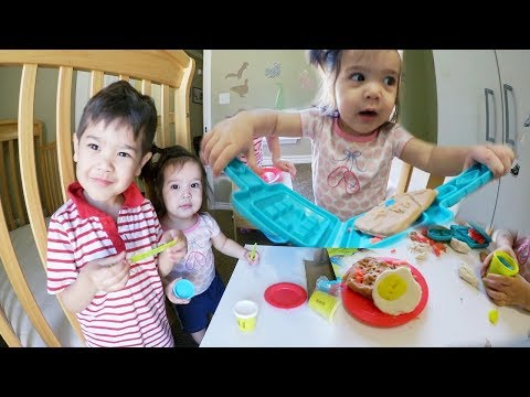 PLAY DOH BREAKFAST WITH KIDS