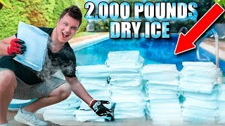 2,000 POUNDS OF DRY ICE POOL CHALLENGE! (Police Called) 😮
