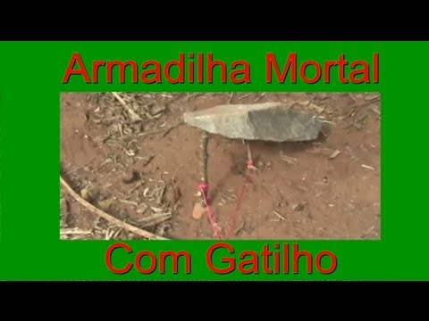 Armadilha mortal com gatilho / Deadfall trap with spring trigger