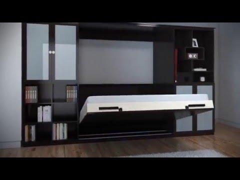 Innovadora biblioteca con cama for Diseno de libreros para espacios pequenos
