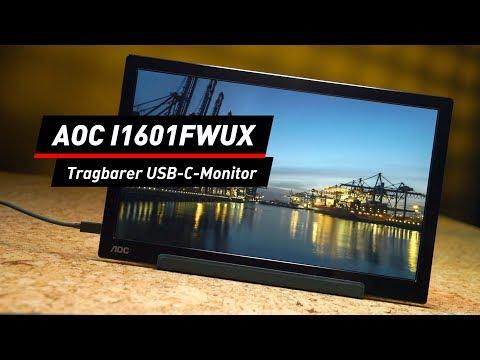 Zusatz-Monitor für Notebooks: AOC I1601FWUX im Test