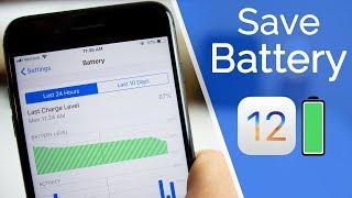Video 20+ Tips to Improve iOS 12 Battery Life! MP3, 3GP, MP4, WEBM, AVI, FLV Oktober 2018