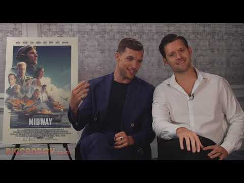 MIDWAY interview with Ed Skrein and Luke Kleintank, who play Lt. Dick Best & Lt. Clarence Dickinson
