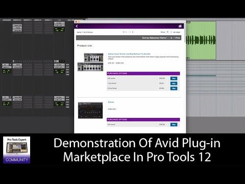 Demonstration Of Avid Plug-in Marketplace In Pro Tools 12