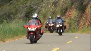 3. 2009 Sport-Touring Motorcycle Shootout - BMW vs Honda vs Kawasaki vs Yamaha