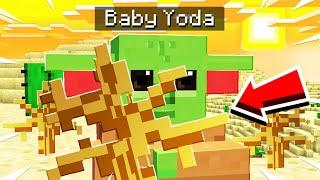 BABY YODA MINECRAFT HIDE AND SEEK! (HILARIOUS)