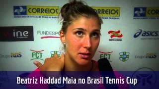 Beatriz Haddad Maia fala sobre sua campanha no Brasil Tennis Cup