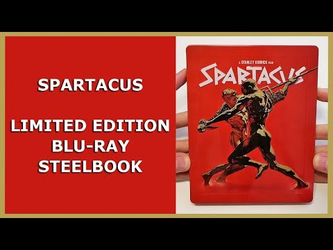 SPARTACUS - LIMITED EMBOSSED BLU-RAY STEELBOOK UNBOXING