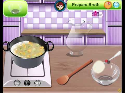 Cooking Game Video-Sara's Cooking Class  Chicken Soup