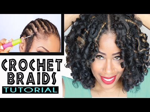 Crochet Braids No Knot Method : How To: CROCHET BRAIDS w/ MARLEY HAIR ! (ORIGINAL no-rod technique!)