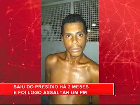 [RONDA GERAL] Homem é preso pela 6ª vez por assalto