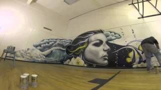 Angel Fish YOGA Time Lapse Mural