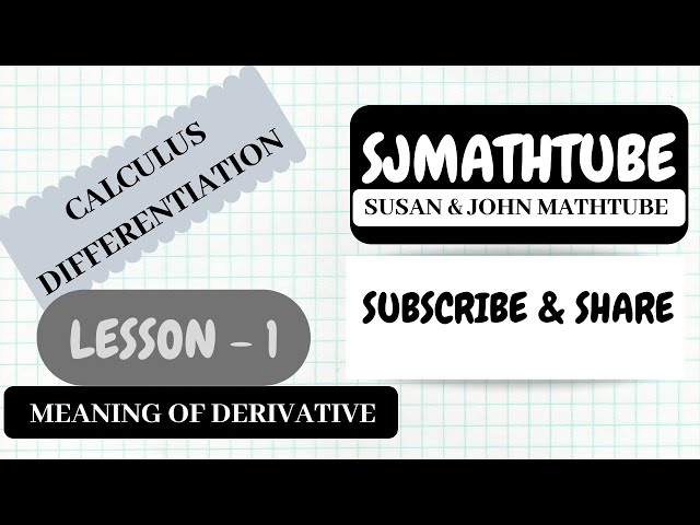 Calculus For Beginners - Why Do We Need Derivatives ? (Part 1)