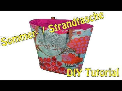 DIY | Sommer / Strandtasche selber nähen | Nähen für Anfänger | Tutorial
