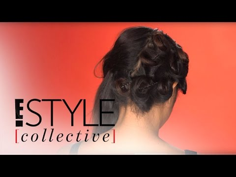 How to Do Retro Pin Curls, the Modern Way | E! Style Collective |  E!