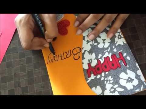 Beautiful Handmade Birthday card idea for Wife (видео)