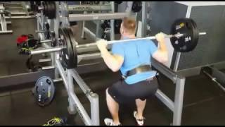 Back Squats 225 lbs  - 10 repsQuick set at the end of a workout for some volume on back squats.225 lbs for 10 reps...#squats #backsquats