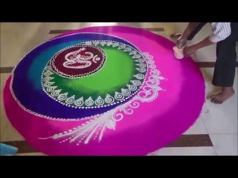 Video Diiwali Special rangoli Ugadi special rangoli  Best Rangoli Designs Om rangoli design download in MP3, 3GP, MP4, WEBM, AVI, FLV January 2017