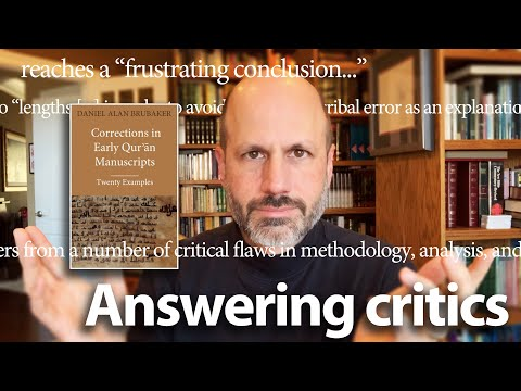 """Brubaker's response to Hythem Sidky's 2019 review of """"Corrections in Early Qurʾān Manuscripts"""""""