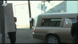 Houston's Casket Arrives at Church for Funeral - YouTube