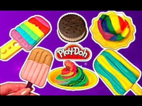 Play Doh Wheels on the Bus Making Ice Cream Coloring Learn Colours Songs Mickey Mouse Barbie Yowie