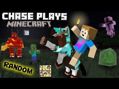 Chase plays MINECRAFT!  Random Gameplay w/ a 4 Year Old!  (FGTEEV) (видео)