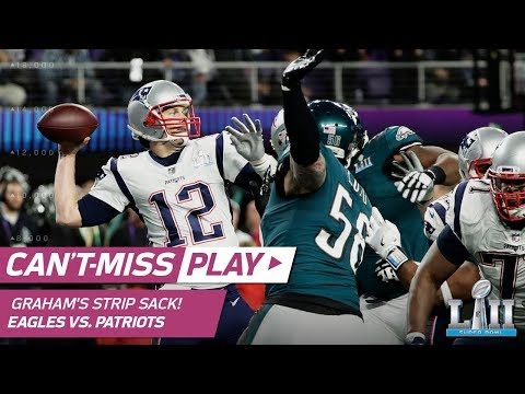 Video: Brandon Graham's Strip Sack on Tom Brady for 1st TO of Game! | Can't-Miss Play | Super Bowl LII