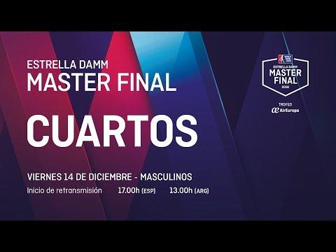 Cuartos de final masculinos Viernes - Estrella Damm Master Final 2018