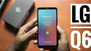 lg q6| indian unboxing & hands on| cheapest bezelless phone!