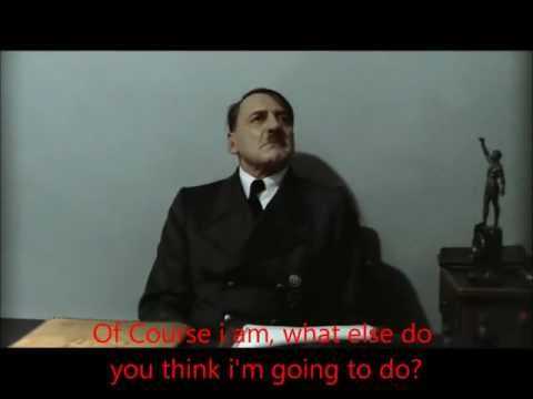 Hitler Finds Out His Credit Card Payment is overdue.