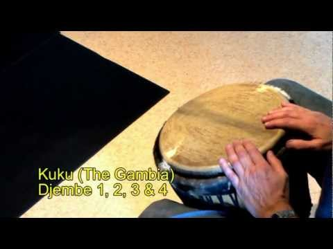 Djembe rhythms and grooves part 2 (from The Gambia), Fulla, Kuku, Tiriba