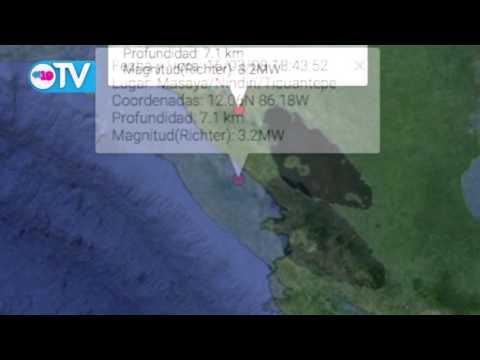 Sismo de 3.2 grados al norte del volcán Masaya
