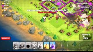 Clash of Clans 7 pekka ile saldırı