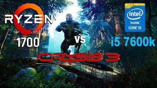 Ryzen 7 1700 vs i5 7600k in Crysis 3 (GTX 1070)