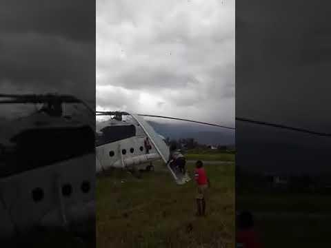 Viral, Bocah Wamena Main Ayunan Gunakan Baling-Baling Helikopter